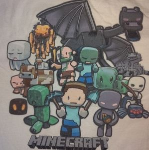 VINTAGE Minecraft Children's shirt. RARE AND COOL!